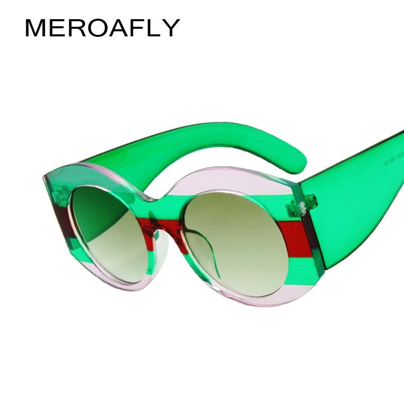94cdc02580687f MEROAFLY Nouvelle Surdimensionné Ronde lunettes de Soleil Femmes Marque  Designer Hommes Lunettes De Soleil De Mode Vintage Lunettes Femme Homme  oculos UV400