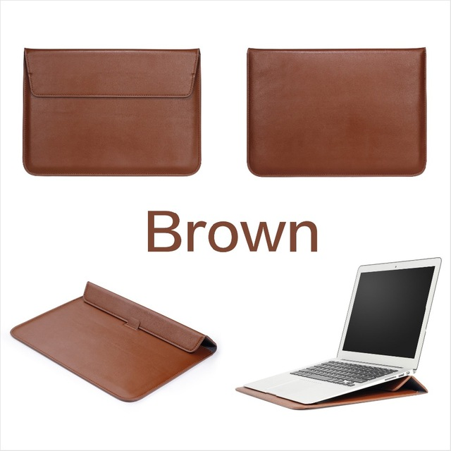 PU Leather Mail sack Sleeve Bag Case Stand For Macbook Air Pro Retina 11 12 13 15 Notebook Laptop Cover For NEW Mac book 13 inch