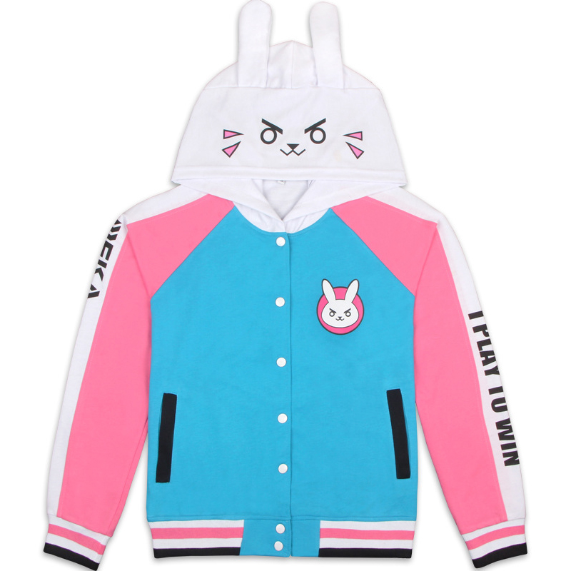 Overwatch DVA Sweatshirt women Baseball Jacket Hoodie Autumn Coat Asia Size