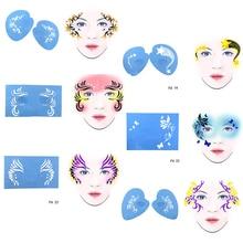 OPHIR Reusable Face Paint Stencil DIY Facial Design For Party Makeup Tools Body Painting Template FA0203