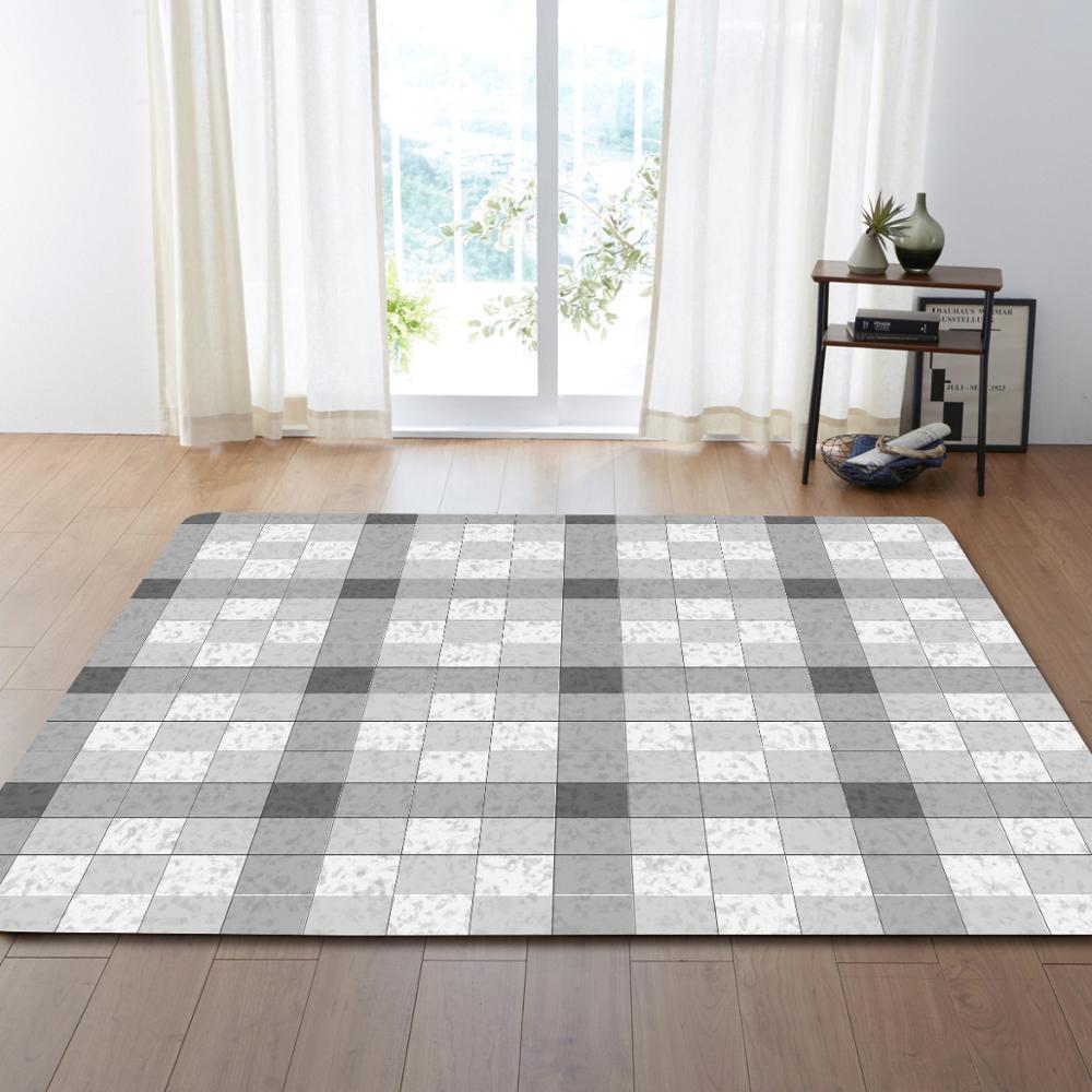 Nodic Plaid impression tapis moderne chambre salon canapé tapis Table anti-dérapant Yoga tapis enfant jouer tapis couverture maison décorative