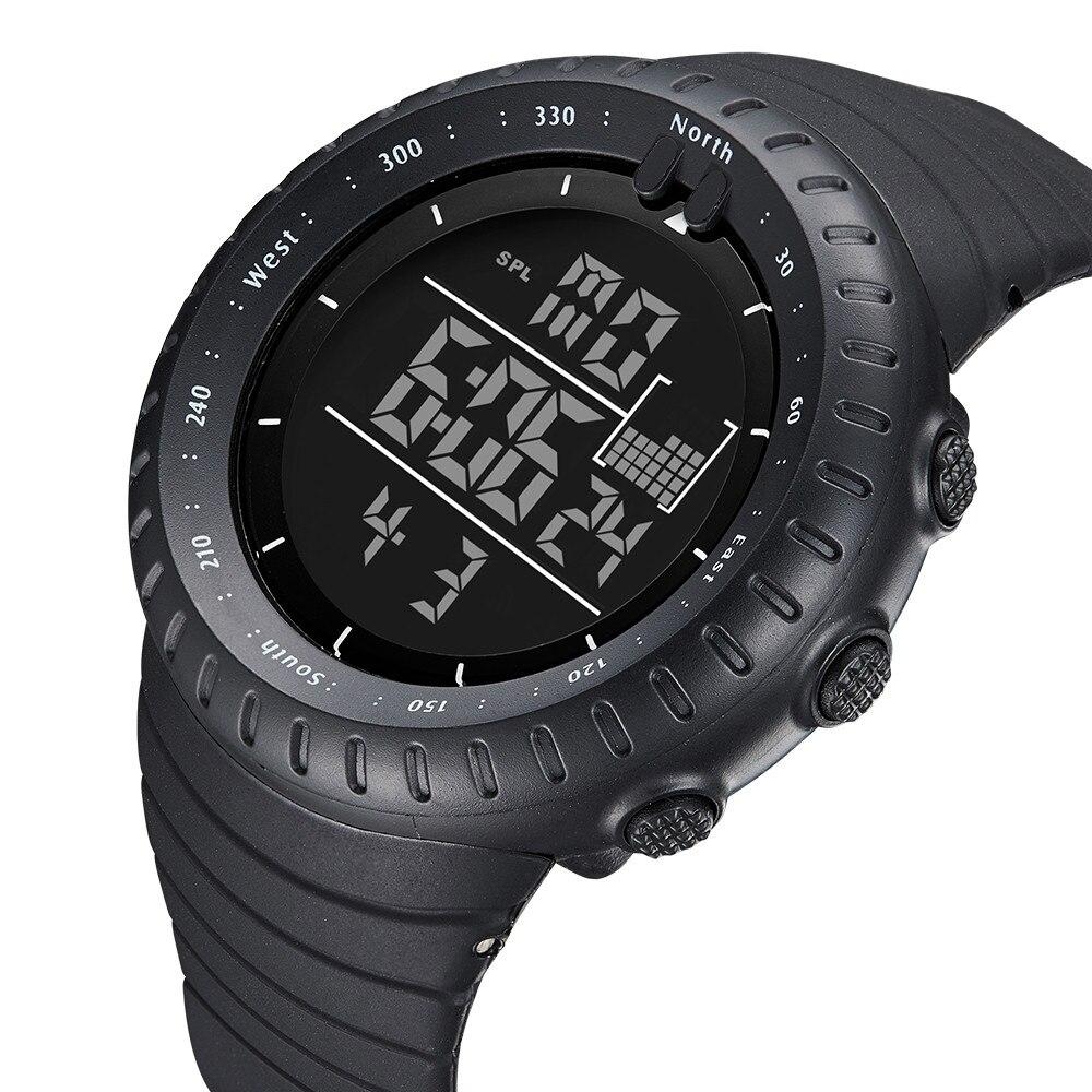 Fashion Male Sports Wrist Watch Rubber Band Luminous LED Stopwatch Men's Digital Army Military Waterproof Wrist Watch #30 цена и фото