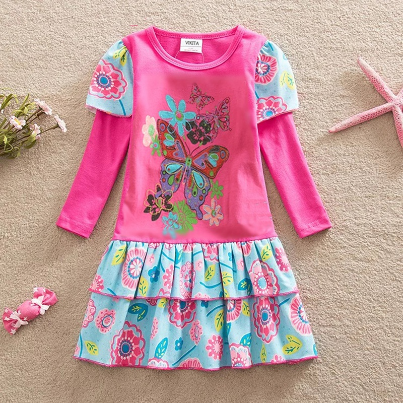 HTB1dYWCQSzqK1RjSZFHq6z3CpXaC DXTON 2018 New Girls Dresses Long Sleeve Baby Girls Winter Dresses Kids Cotton Clothing Casual Dresses for 2-8 Years Children