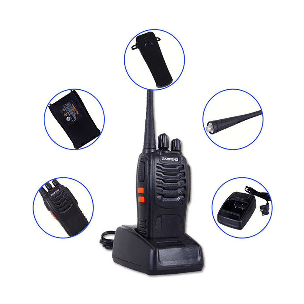 Image 5 - BF 888S 2 Baofeng Mini Walkie Talkie Wireless Civilian Waterproof Portable Self driving Tour Hotel Tourie Security Walkie talkie-in Walkie Talkie from Cellphones & Telecommunications