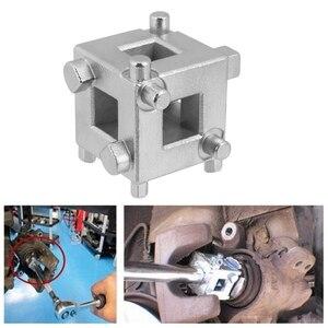 Herramienta de Retractor de pistón de freno de disco trasero de coche adaptador de Calliper de cubo trasero de viento accesorios de coche plateado nuevo