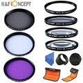 52mm, 55mm, 58mm Close Up +1 +2 +4 +10 Filter Set UV CPL FLD Lens Filter Kit Lens Hood  Cap For Nikon D3100 D3200 D5100 18-55mm