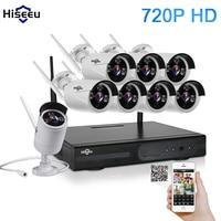 WIFI CCTV System 8ch HD Wireless NVR Kits Bullet 1 0MP IP Camera IR CUT CCTV
