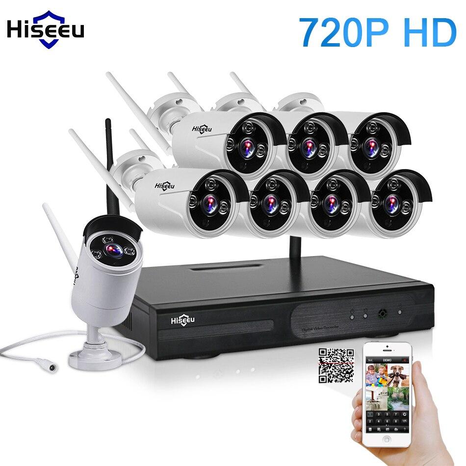 bilder für CCTV System 720 P 8CH HD Wireless kit Nachtsicht IP kamera wifi Cctv-kamera-kit Home Sicherheitssystem videoüberwachung hiseeu