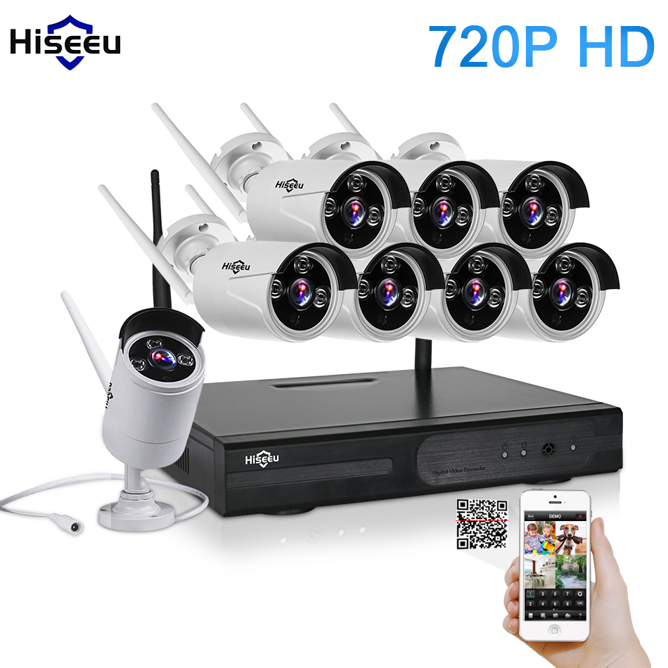 buy cctv system 720p 8ch hd wireless kit night vision ip camera wifi cctv. Black Bedroom Furniture Sets. Home Design Ideas