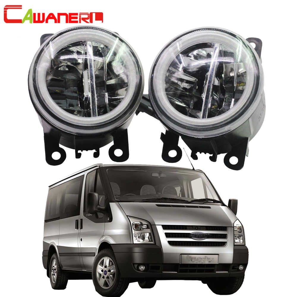 cawanerl for ford tourneo transit car styling 4000lm led bulb fog light angel eye daytime [ 1000 x 1000 Pixel ]