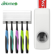 Tooth Paste Squeezer Dispenser with Toothbrush Holder Bathroom Products Automatic Set Brush Accessories