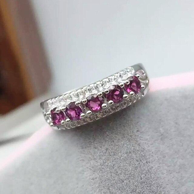Винтаж стерлингового серебра 925 кольцо для женщины подлинных пироп камень кольца серебряные ювелирные изделия обручальное кольцо лучший подарок для девушки