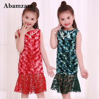 Cute Spring Autumn Costume Princess Girls Dress Roupas Infantis Menina Children S Evening Clothing Kids Fishtail