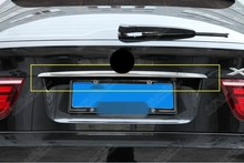 Stainless Steel Glossy Rear Door Logo lower stripe cover trim 1pcs For BMW X5 e70 2013 2012 2011 2010 2009 2008