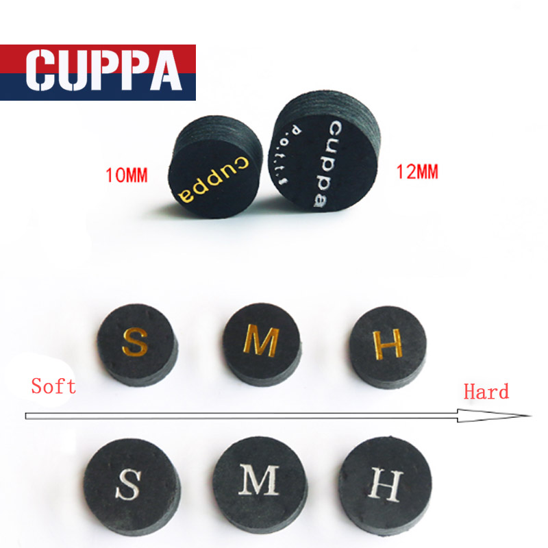 Cuppa 3 Pcs/lot 10mm/12mm Snooker Cue Tip S/M/H China