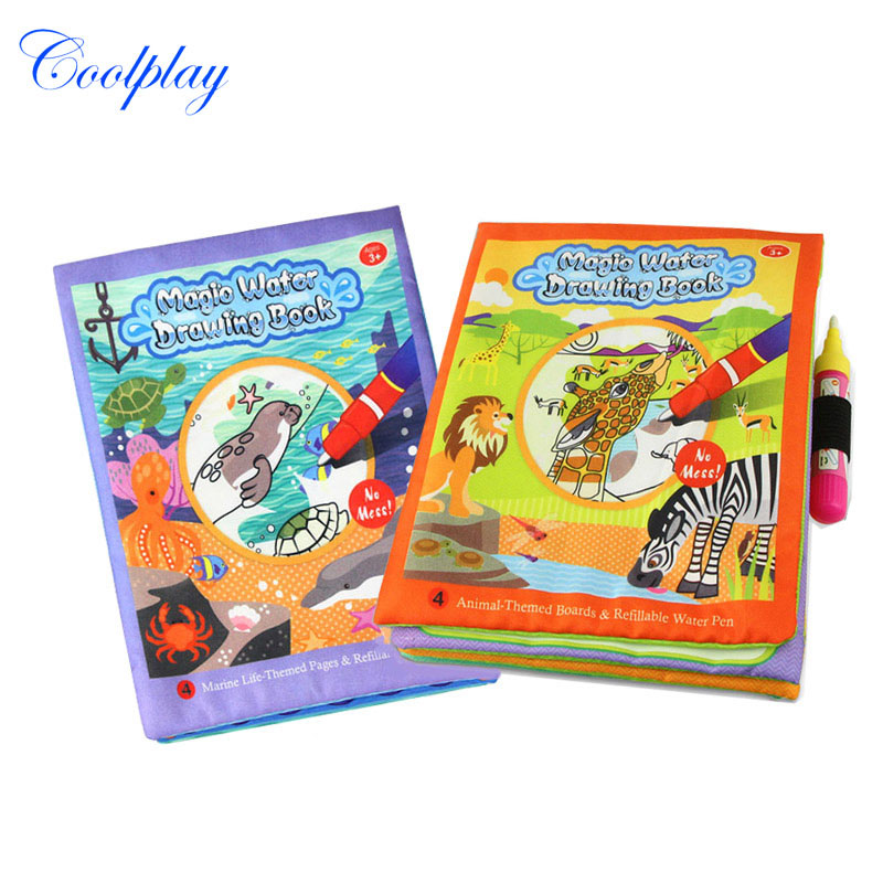 New Magic Kids Water Drawing Book with Magic Pen Children Intimate ...