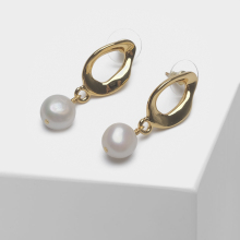 Amorita boutique Irregular design fashion elegant pearl drop earrings