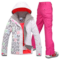 Free Shipping Gsou Women S Snow Ski Suit Set Russia 30 High Quality New 2015 Winter