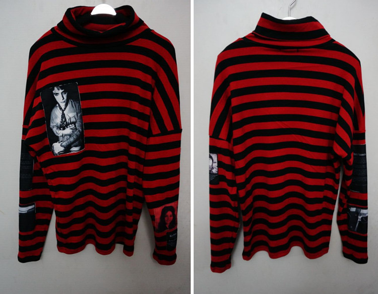 3417df669214 New Korean Harajuku GD Black Red Striped T shirt Men Women Unisex Loose  Oversize Extra Long Sleeve Couple T Shirt-in T-Shirts from Men's Clothing  on ...