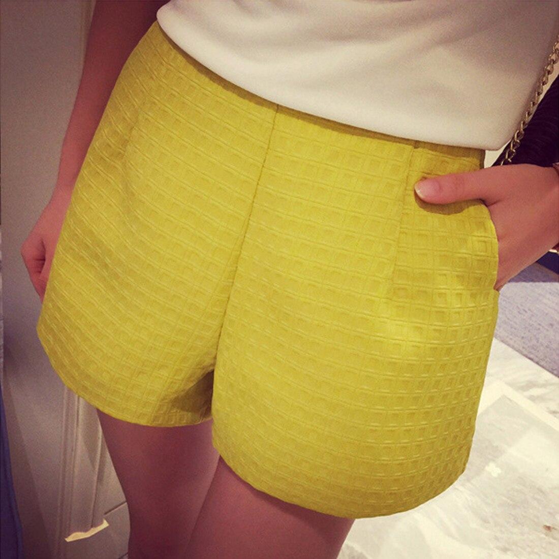 Hot 2017 New Fashion dark Plaid shorts high-waisted shorts Korean Casual women Jeans Shorts crochet shorts Шорты