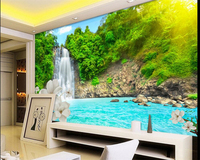 Beibehang Büyük Özelleştirilmiş Herhangi Boyutu HD Falls Su Çiçek Fotoğraf Duvar Kağıdı Oturma Odası TV duvarlar için Yatak Odası Arka Plan duvar kağıdı