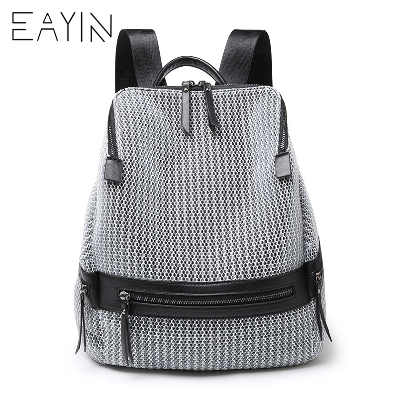 EAYIN Canvas Backpack Women Fashion Backbags For Teenage Girls Rucksacks Backpack Female School Bags Travel Shoulder Bag 3157 fashion backpack women bag nylon waterproof school bags for teenage girls headphone plug travel daypack female shoulder bag