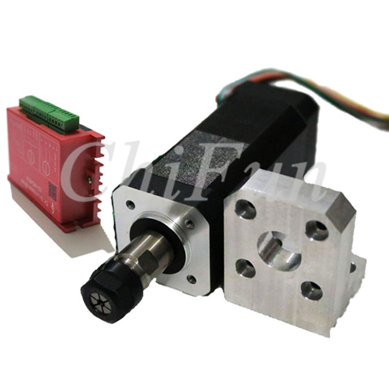 ER11 100W 0.44NM brushless spindle motor kit DIY Mini engraving machine spindle motor + driver kit supports MACH3 control card-in Motor Driver from Home Improvement
