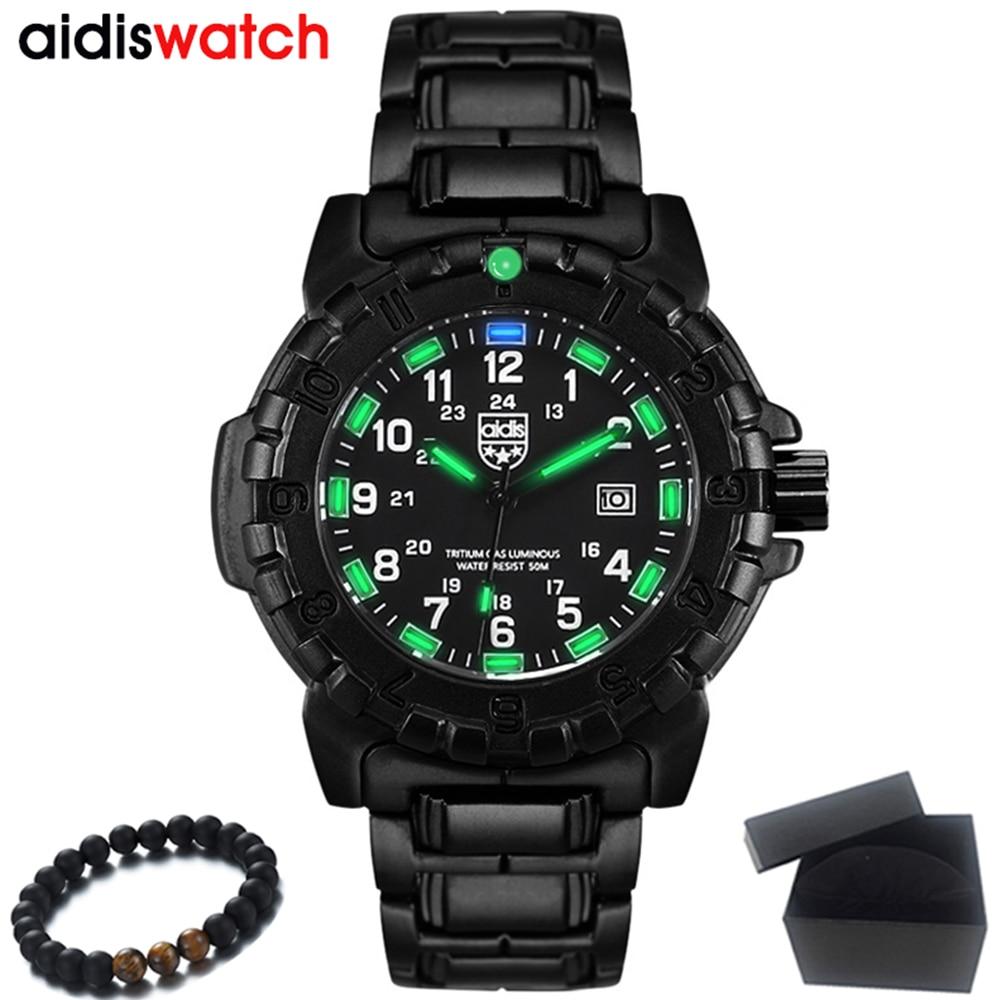 Top brand Luxury AIDIS Mens Watches Men Luminous Quartz Watches Waterproof Outdoor Military Sports Watch Men Clock Reloj Hombre yeeloo 60ml page 5