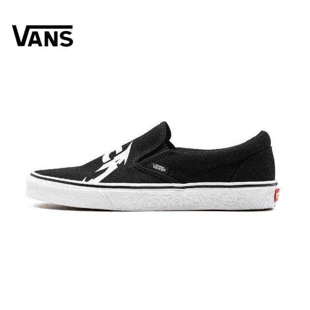 2d977faa7b Original New Arrival Vans Men s Classic Slip-On METALLICA Low-top  Skateboarding Shoes Sneakers Canvas Comfortable VN0A38F7PZJ