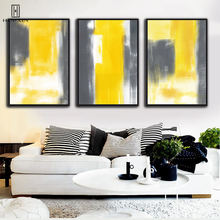 Modern Abstract HD Pattern Wall Paintings Yellow Gray White Colors Mixed Decorative Canvas Posters For Home Hotel Decoration wall art abstract canvas printing modern posters gorgeous lotus leaf lotus root in lake decorative paintings for home decoration