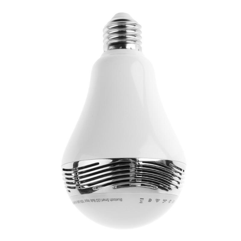 Smart RGB Bulb Bluetooth 4.2 Audio Speakers Lamp Dimmable E27 LED Wireless Music Bulb Light Color Changing with WiFi App Control small music tesla coils plasma speakers wireless lighting ion windmills electronic toys gifts