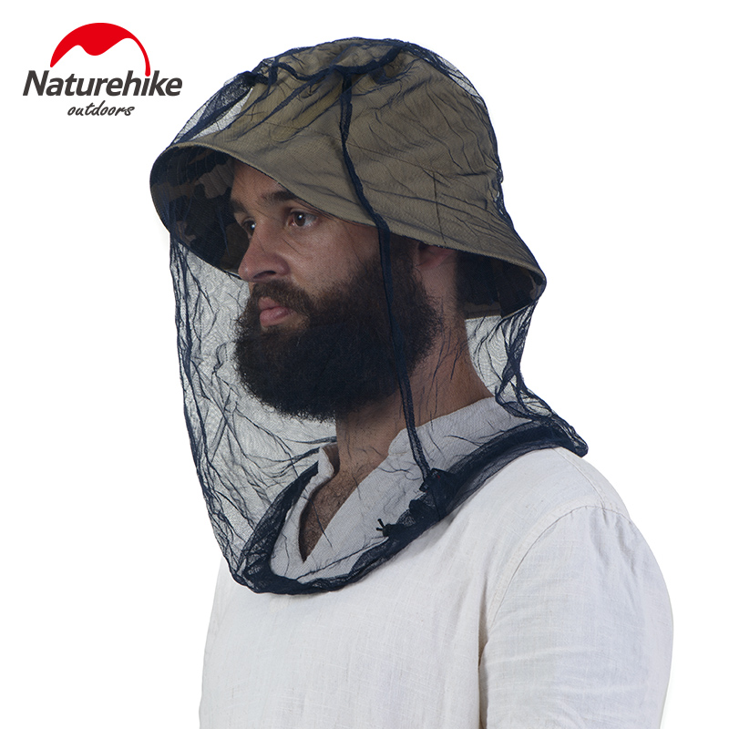 NatureHike Mosquitoes Head Helmet Net Insect Resistant Mask Insect Net Head Net Outdoor Sports Anti Mosquito Fishing Camping