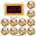 433 МГц Ресторан пейджер Беспроводной Официант Вызова Пейджинговой Системы 1 xReceiver Хост 10 х Кнопка Вызова для Ресторана Кафе-Отель F3259