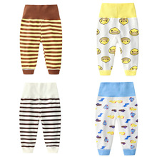 hot deal buy baby pants boys girls leggings children's autumn new kids trousers cotton infant cartoon pants baby high waist navel pants 0-5y