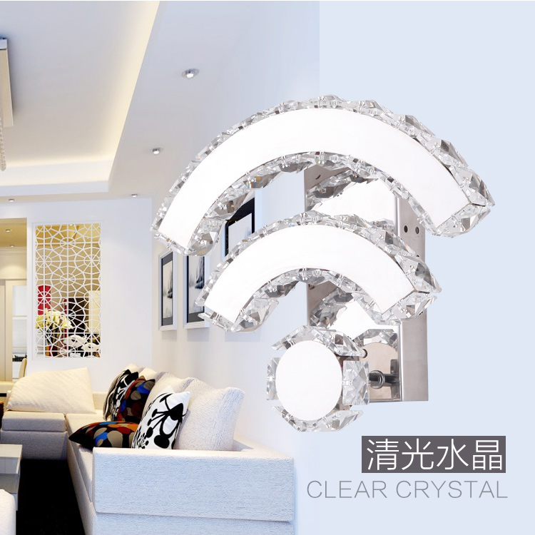 Z modern Originality crystal wall lamp led lamp 14W wifi wall lamp for bedroom Hotel Restaurant The bed lamp lighting fixture