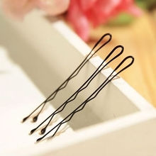 60Pcs Fashion Black Women Lady Bobby Pins Invisible Wave Hair Grips Salon Barrette Hairpin Girl Hair Clips