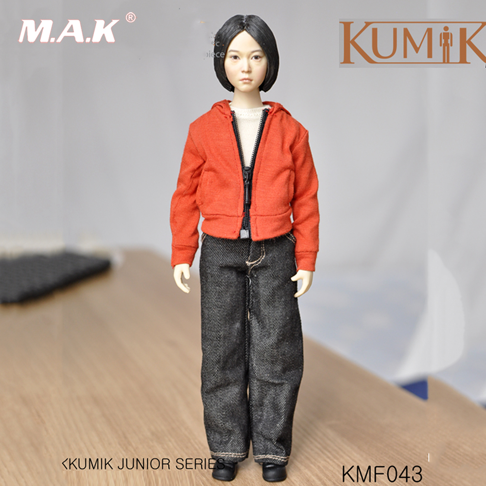 The whole set Kumik KMF043 1/6 Scale Woman Head Sculpt Figure Model PVC Hobbies Collection head and Body and Clothing