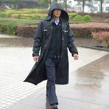 Lange Regenjassen Mannen Trenchcoat Poncho Ondoordringbare Regen Jas Mannen Waterdichte Regenjas Poncho Jacket Outdoors Tour Regenkleding Volwassenen