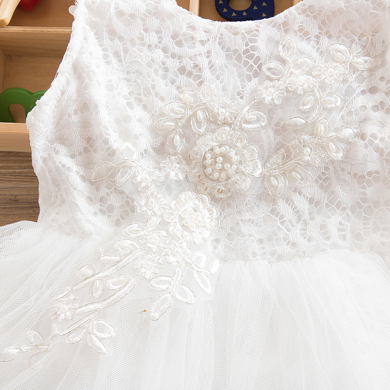 HTB1dYZJnQyWBuNjy0Fpq6yssXXaW Summer Dresses For Girl 2018 Girls Clothing White Beading Princess Party Dress Elegant Ceremony 4 5 6 Years Teenage Girl Costume
