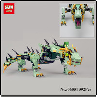 IN STOCK Lepin 06044 343PCS Ninja Series Of Vermilion Invader Assembled Building Blocks Bricks Toys Compatible