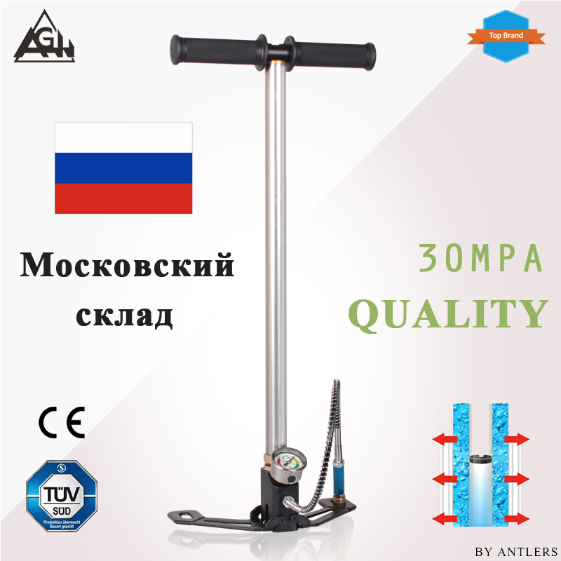 4500psi 30Mpa Air PCP Paintball Pump 3 Stage Air Rifle Hand Pump High Pressure With Filter Mini Compressor Bomba Pompa Not Hill