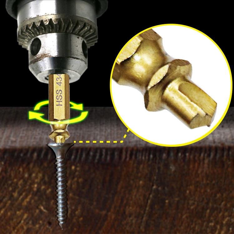 4 шт. 4341 титановое покрытие двухстороннее сверло поврежденный Винт экстрактор для удаления ручной работы сломанный болт шпилька инструмент для удаления
