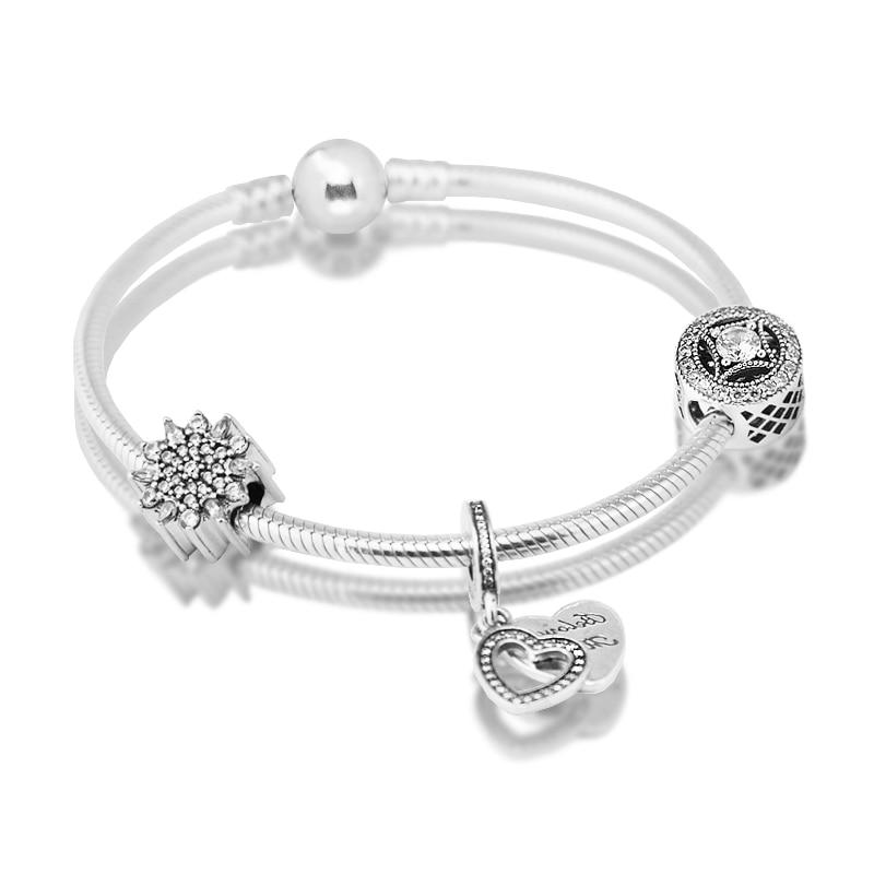 Здесь продается  Compatible with European Bracelet with charm pendant beads 925 Sterling Silver Jewelry Moments Silver Bracelets DIY making  Ювелирные изделия и часы