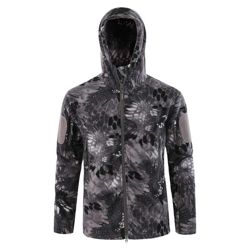 City Tactical Fleece Thick Warm Breathable Camouflage Jacket Men Winter Outdoor Hiking Climbing Cycling Thermal Windproof Coat