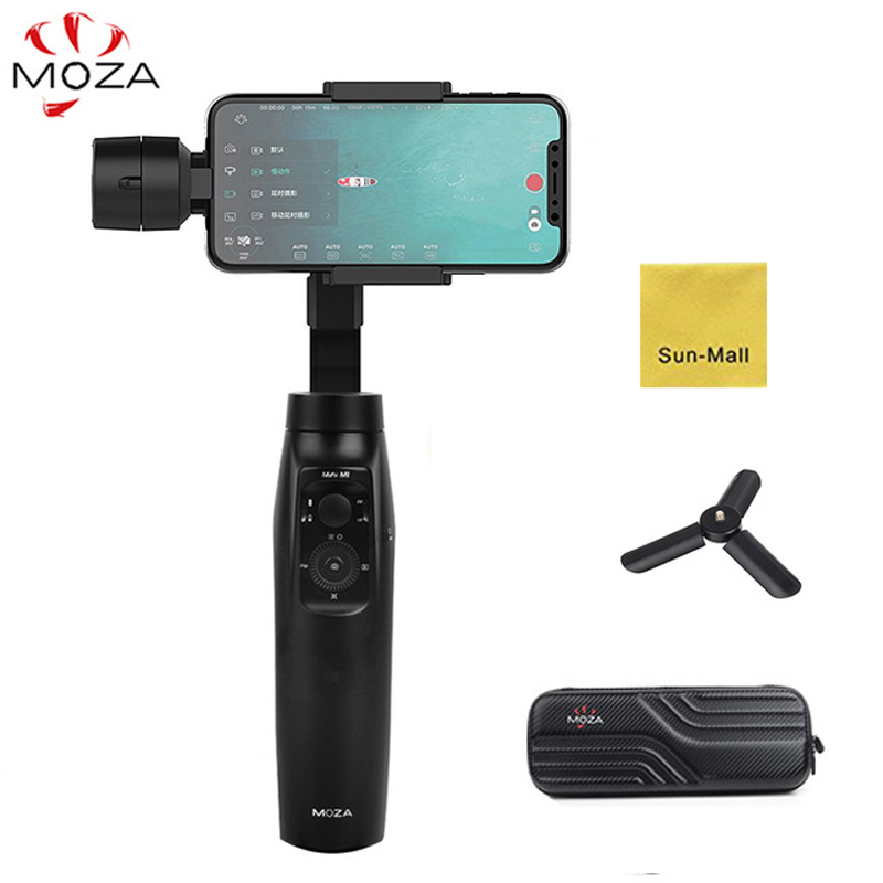 MOZA MINI MI 3-Axis Handheld Gimbal Stabilizer for Smart phone iPhone X 8 Plus 8 7 Samsung S9 S8 S7 with Maximum Payload 300g moza mini mi mini mi smartphone 3 axis brushless handheld gimbal stabilizer for iphone x plus 8 samsung s9 s8 gopro pk dji osmo