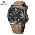 2016 MEGIR лучший бренд класса люкс военная часы мужские кварцевые месяц дата часы мужской кожаный ремешок спортивные наручные часы relogio masculino