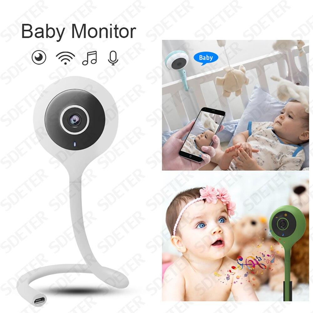 SDETER Sans Fil Bébé Moniteur Wifi Caméra Vidéo de Sécurité BeBe Nounou Caméra IR Nuit Vision 2 Façon Audio Nuage Température Moniteur