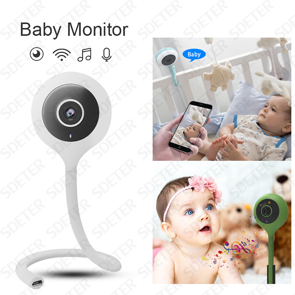 SDETER Wireless Baby Monitor Wifi Camera Video Security BeBe Nanny Camera IR Night Vision 2 Way Audio Cloud Temperature Monitor