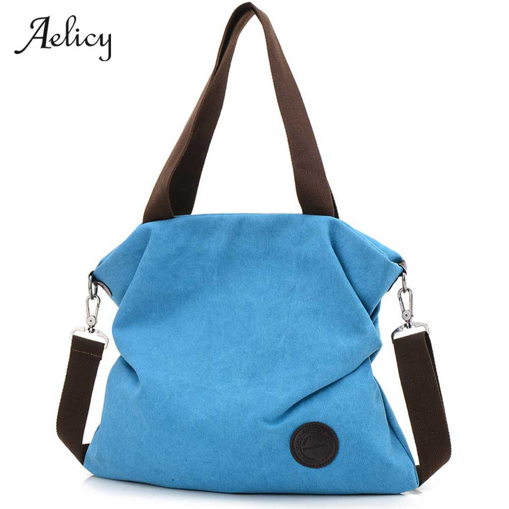 Aelicy Canvas Bag Tote Women Handbags Canvas Shoulder Bags Fashion Casual Messenger bags Large Capacity Lady Toes sac a main women canvas messenger bags female crossbody bags solid shoulder bag fashion casual designer handbag large capacity tote gifts