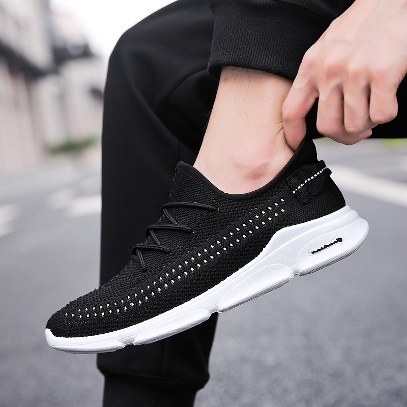 Ultra Light Casual Vulcanize Shoes Mens Sneakers 2019 Lace Up Flats Shoes Man Breathable Footwear